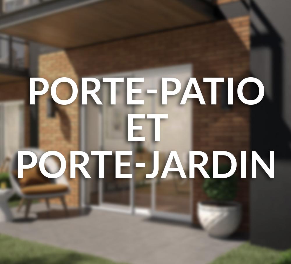 Porte-patio et porte-jardin